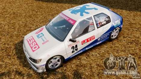 Peugeot 306 Gr. N Rally for GTA 4 back left view