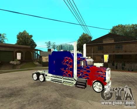 Truck Optimus Prime for GTA San Andreas right view