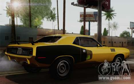 Plymouth Hemi Cuda 426 1971 for GTA San Andreas right view