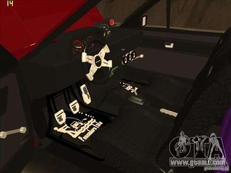 Volkswagen Saveiro Summer for GTA San Andreas back view