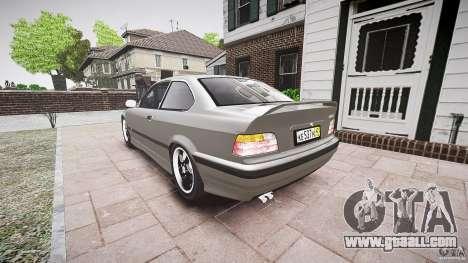 BMW E36 328i v2.0 for GTA 4 back left view