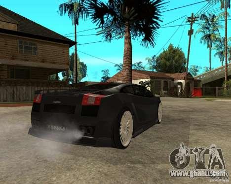 Lamborghini Gallardo HAMANN Tuning for GTA San Andreas back left view