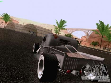 Ford Pickup Ratrod 1936 for GTA San Andreas back left view
