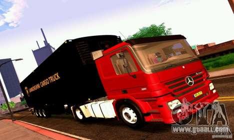 Lamborghini Cargo Truck for GTA San Andreas back left view