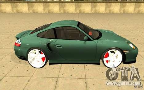 Porsche 911 Turbo for GTA San Andreas inner view