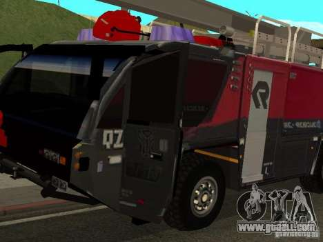 MAN Rosenbauer for GTA San Andreas left view