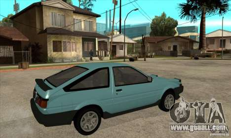 Toyota Corolla GT-S - Stock for GTA San Andreas right view