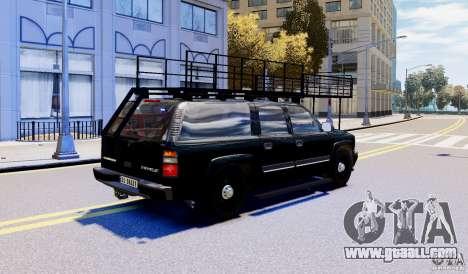 Chevrolet Suburban 2003 Norwegian SWAT Edition for GTA 4 left view