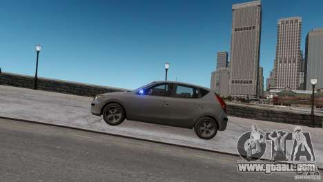 Hyundai i30 Unmarked for GTA 4 back left view