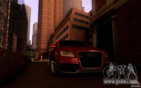 Audi RS5 for GTA San Andreas inner view