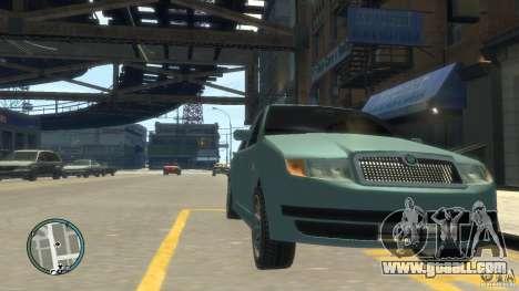 Skoda Fabia for GTA 4 back left view
