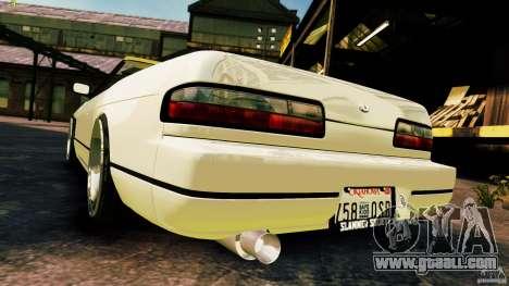Nissan Silvia S13 Cabrio for GTA 4 back view