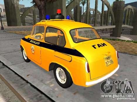 ZAZ-965 Soviet police for GTA San Andreas back left view