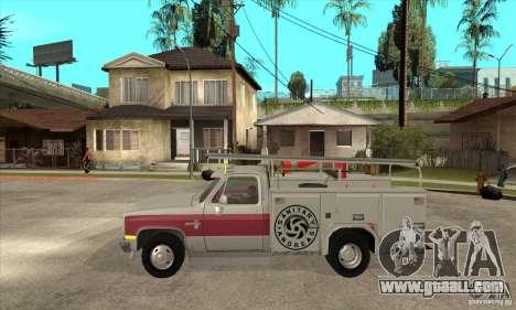 Chevrolet Silverado - utility for GTA San Andreas left view