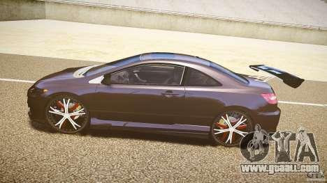 Honda Civic Si Tuning for GTA 4 left view