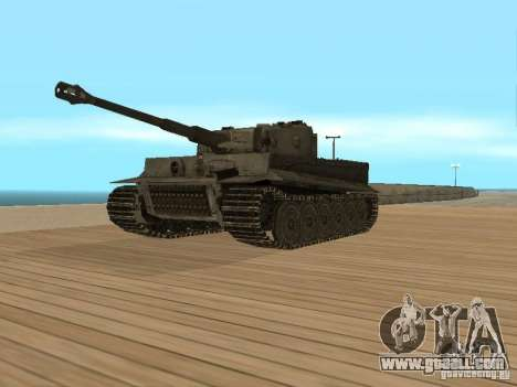 Pzkpfw VI Tiger for GTA San Andreas