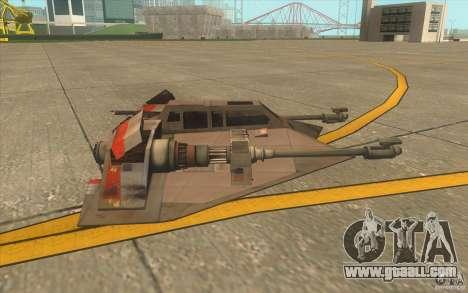 T-47 Snowspeeder for GTA San Andreas bottom view