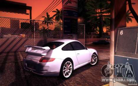 Porsche 911 GT3 (997) 2007 for GTA San Andreas upper view