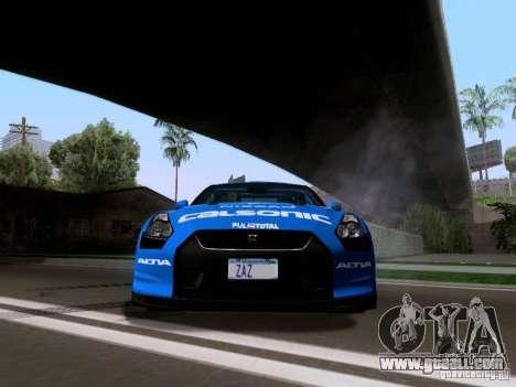 Nissan GTR 2010 Spec-V for GTA San Andreas back view