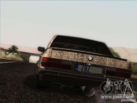 BMW E28 525E RatStyle for GTA San Andreas inner view
