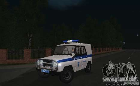 UAZ-31512 Police for GTA San Andreas