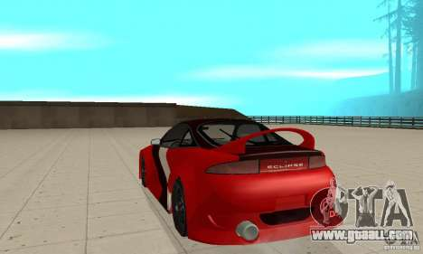 Mitsubishi Eclipse - Tuning for GTA San Andreas back left view
