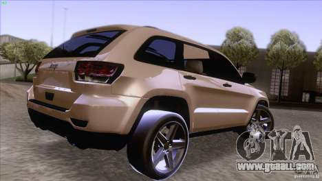 Jeep Grand Cherokee 2012 for GTA San Andreas left view