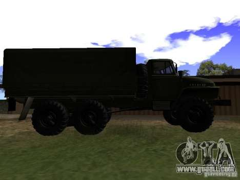 Ural 4320 for GTA San Andreas back left view