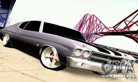 Chevrolet Chevelle 1970 for GTA San Andreas wheels