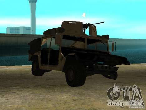 Hummer H1 HMMWV with mounted Cal.50 for GTA San Andreas back left view