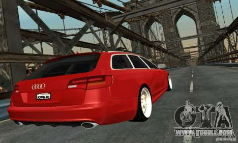 Audi A6 Avant Stanced for GTA San Andreas left view