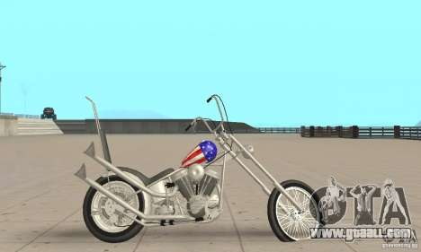 Captain America Chopper for GTA San Andreas back left view