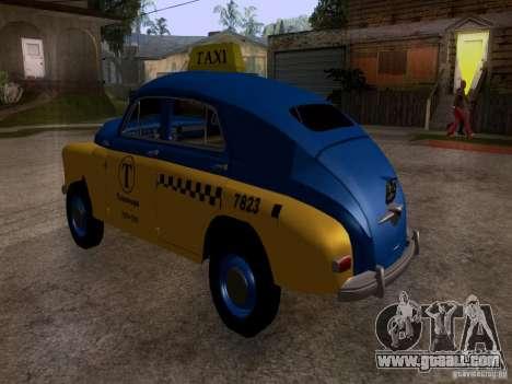 GAZ M20 Pobeda Taxi for GTA San Andreas left view
