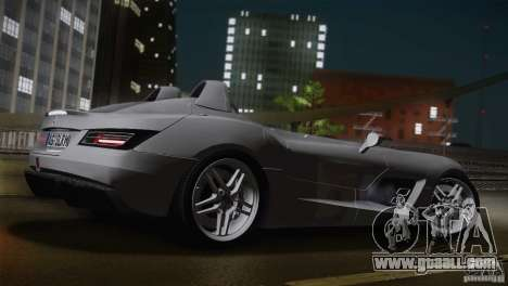 Mercedes-Benz SLR Stirling Moss 2005 for GTA San Andreas back left view