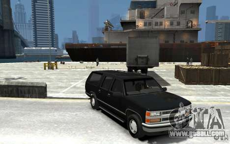 Chevrolet Suburban GMT400 1998 for GTA 4 back view