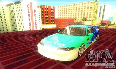 Nissan Silvia S15 8998 Edition Tunable for GTA San Andreas back left view