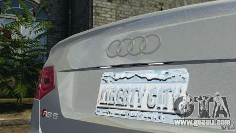 Audi RS6 2010 v1.1 for GTA 4 side view