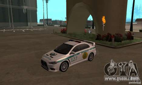 Mitsubishi Lancer Evolution X Police Of Kazakhst for GTA San Andreas