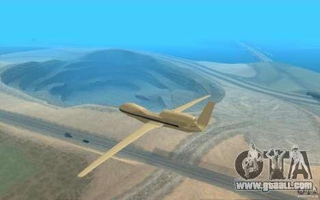 Grumman RQ-4 for GTA San Andreas back left view