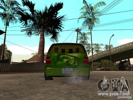 Volkswagen Touran The Hulk for GTA San Andreas back left view