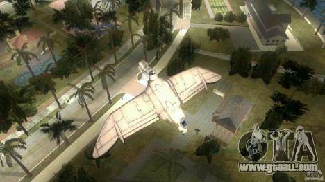 The Valley Gunship for GTA Vice City back left view