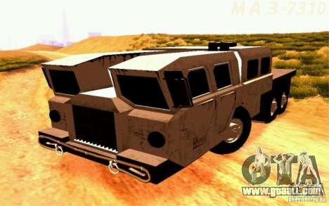 Maz-7310 Civil Narrow Version for GTA San Andreas