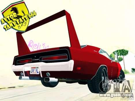 Dodge Charger Daytona Forsazh 6 for GTA San Andreas left view