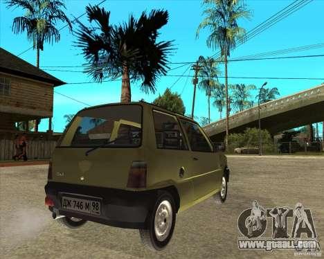 OKA 1111 Kamaz for GTA San Andreas back left view