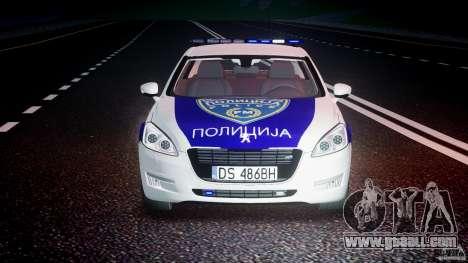 Peugeot 508 Macedonian Police [ELS] for GTA 4 bottom view