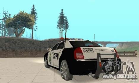 Chrysler 300C Police v2.0 for GTA San Andreas back left view