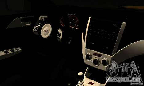 Subaru Impreza WRX STi 2011 TAXI for GTA San Andreas back view