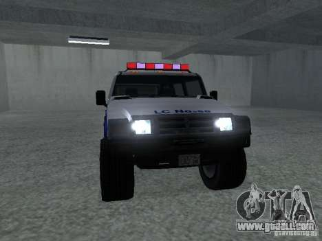 NOOSE Patriot from GTA 4 for GTA San Andreas back left view