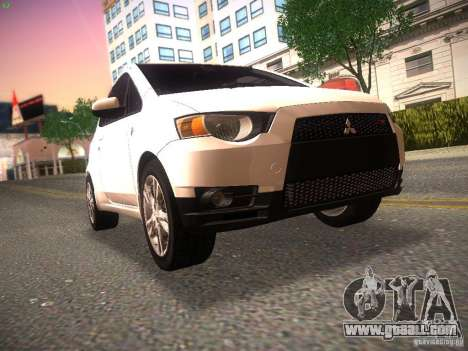 Mitsubishi Colt Rallyart for GTA San Andreas left view