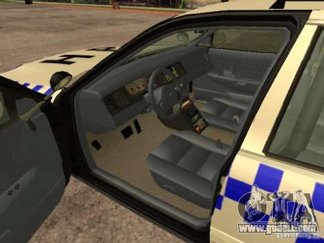 Ford Crown Victoria NSW Police for GTA San Andreas back left view
